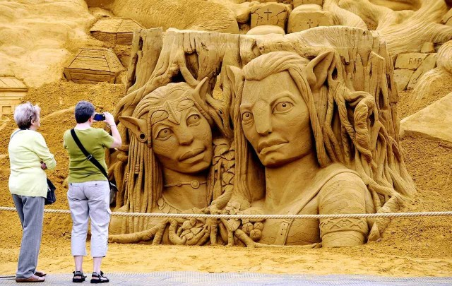 World's Largest Sand Sculpture Festival in Belgium