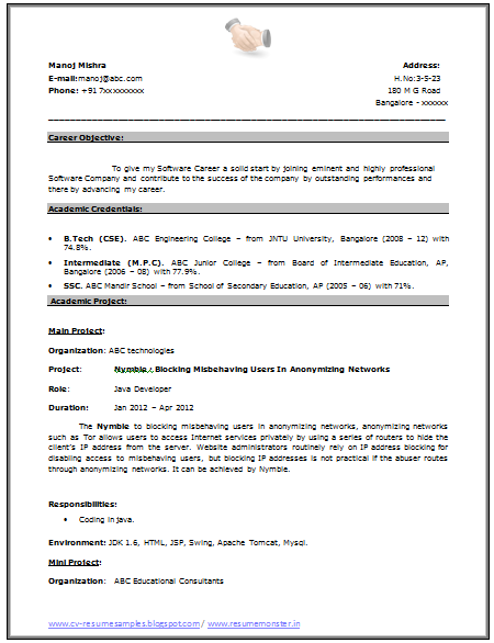 over 10000 cv and resume samples with free download  fresher resume sample