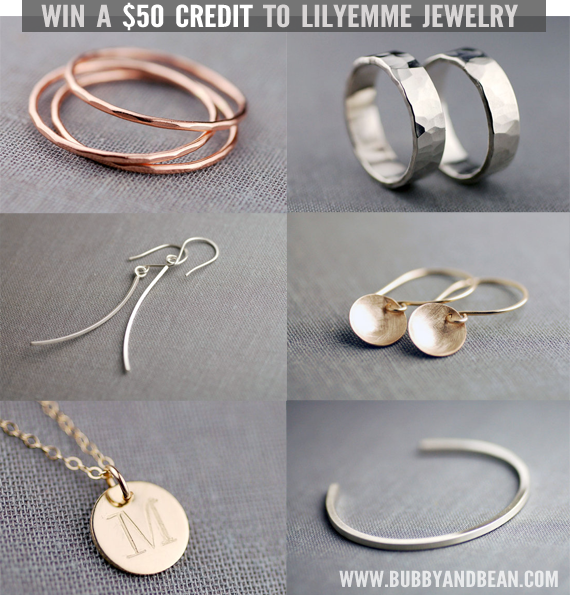 Win a $50 Gift Card to LilyEmme Jewelry from Bubby and Bean!