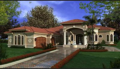 Desain Rumah Mewah Satu Lantai