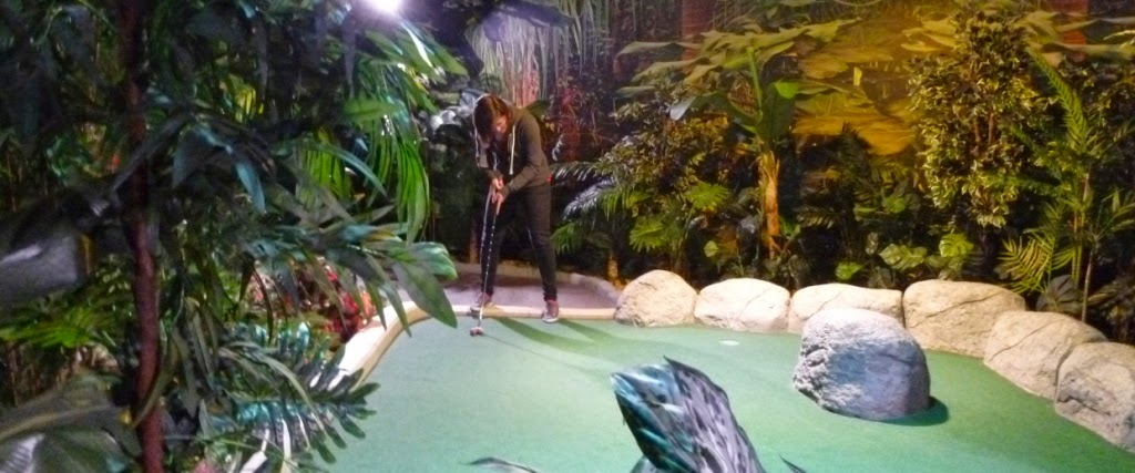Emily Gottfried on the Temple Trail course at The Lost City Adventure Golf course in Nottingham