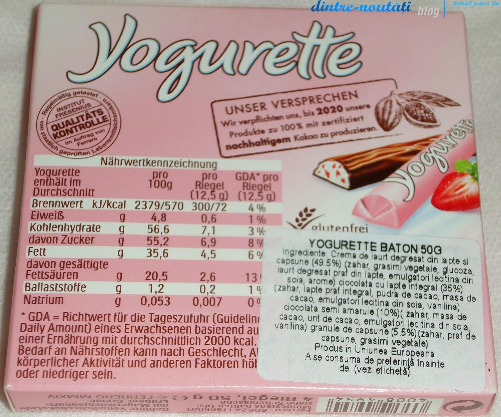 Baton de ciocolată cu căpșuni și iaurt