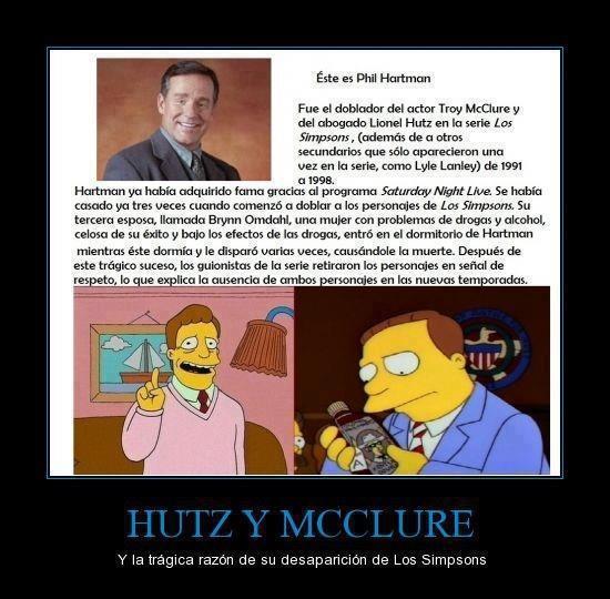 historia trágica de Hutz y Mcclure los simpsons Troy Lionel