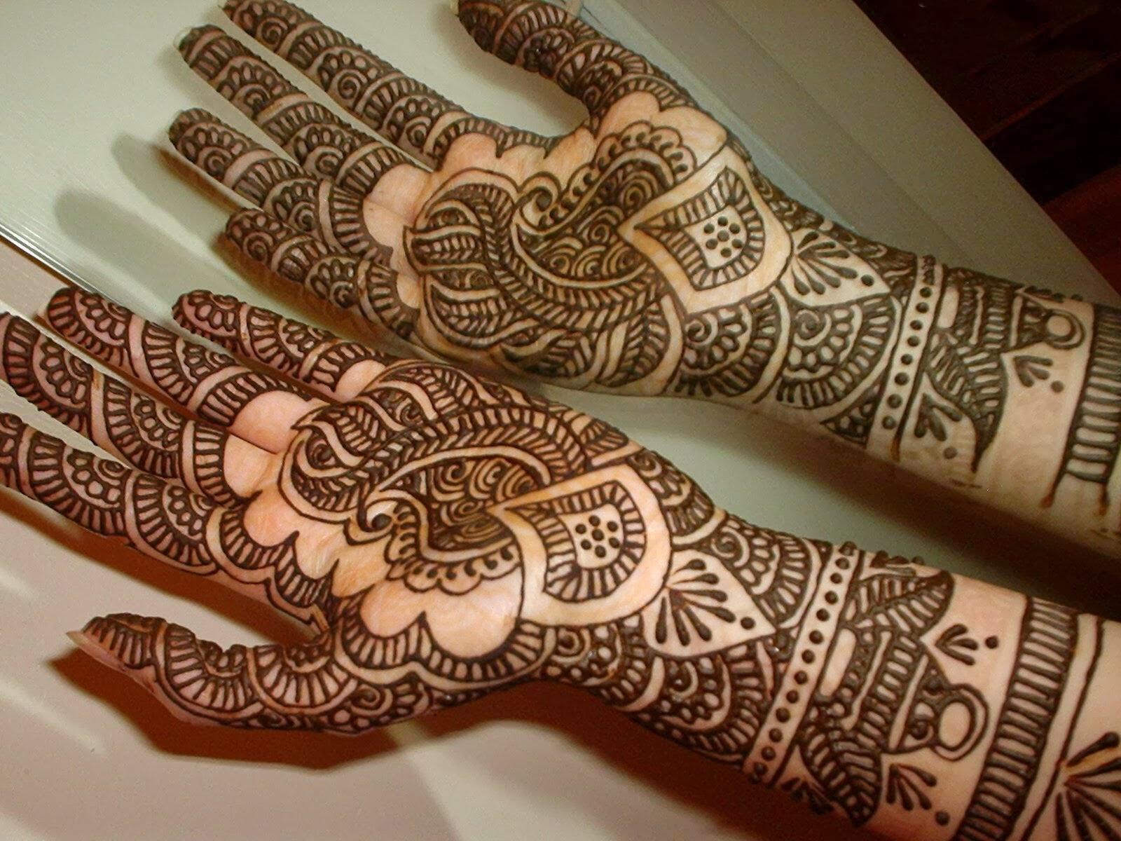 Mehndi Designs Easy Arabic : Beautiful latest simple arabic pakistani indian bridal