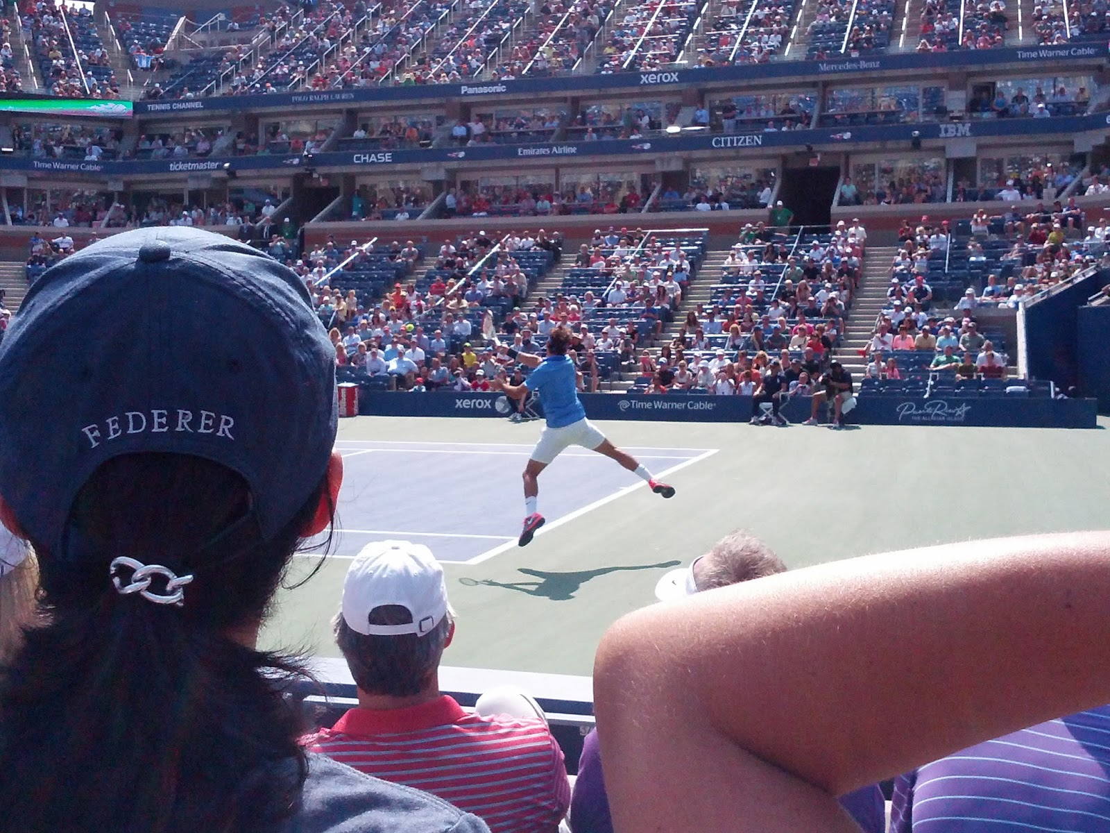 Roger Federer at the US Tennis Open