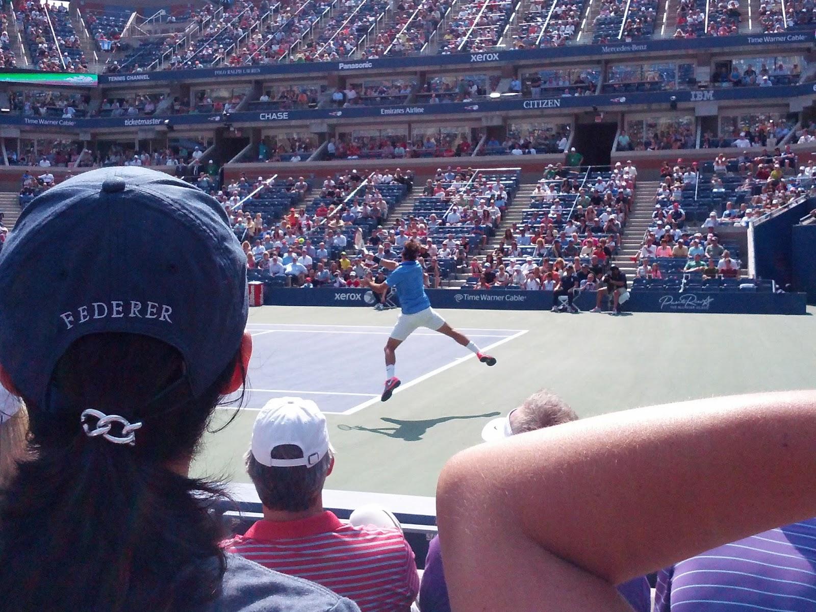 Roger Federer at the US Tennis Open