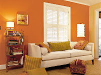 salas naranja en casa