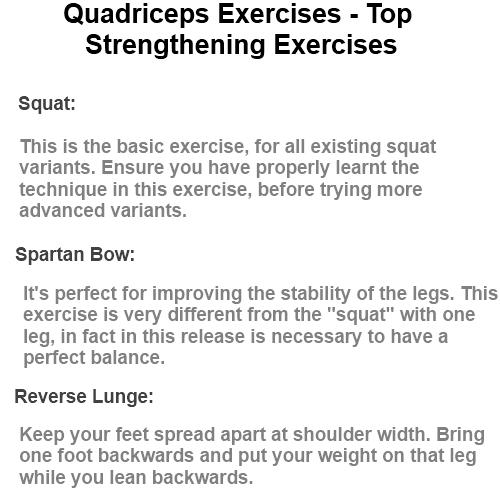 Quadriceps Exercises - Top Strengthening Exercises