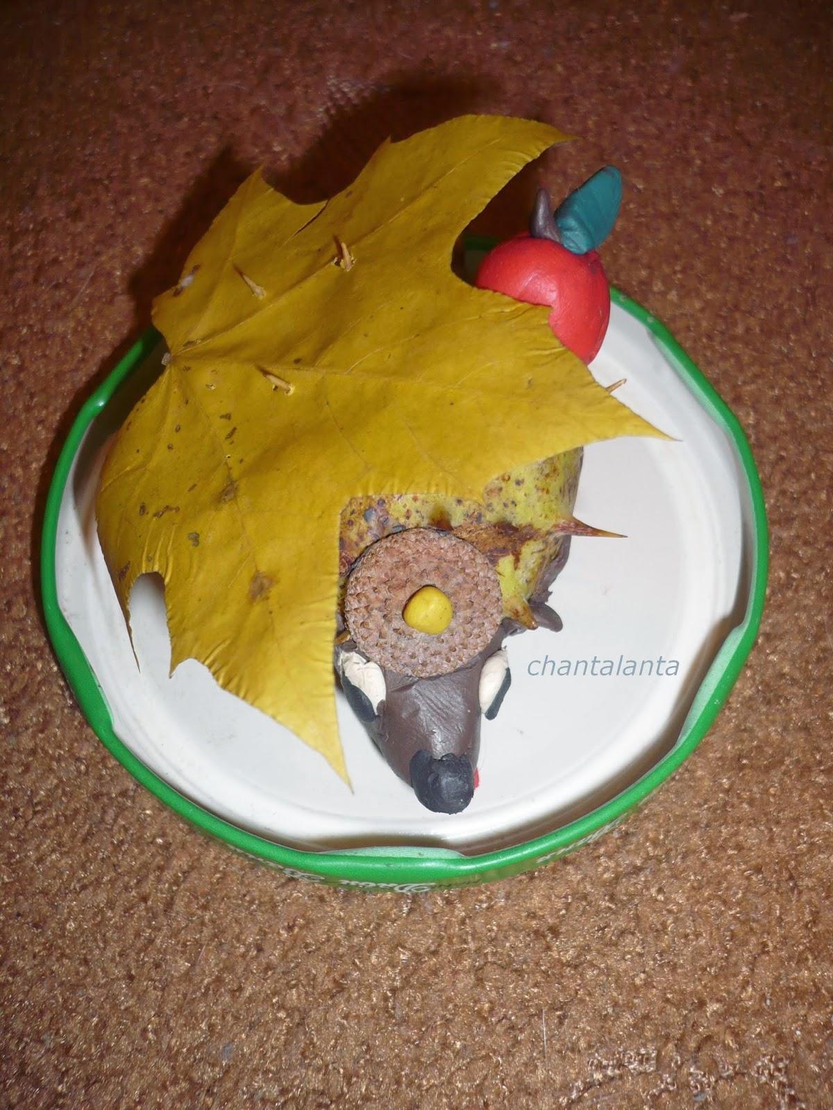 Осенние поделки для садика ежик