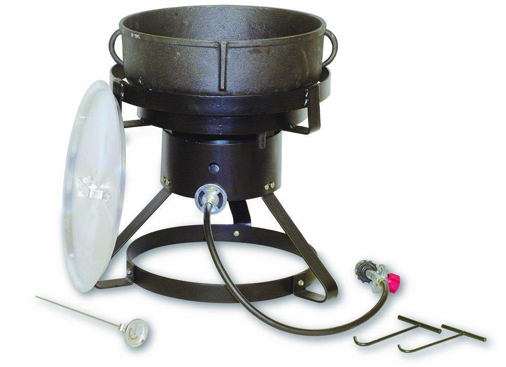 cast iron jambalaya pot and burner
