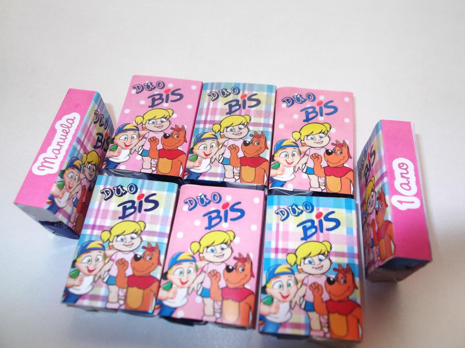 Dois bis personalizados com a Turma da Xuxinha para Festa Infantil