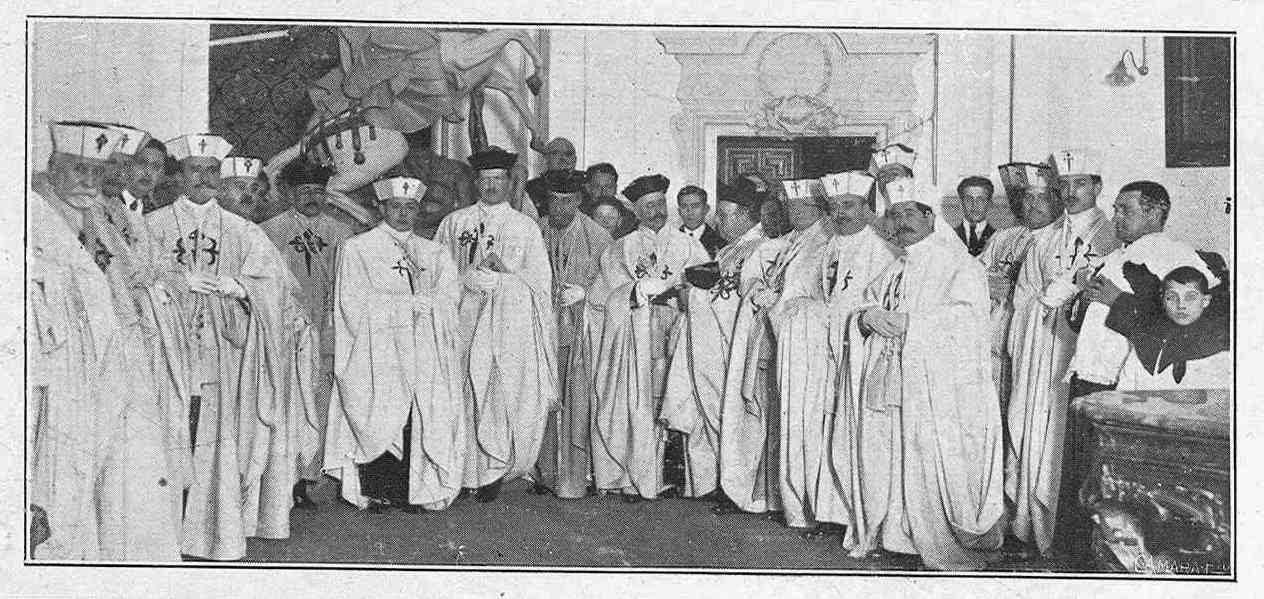 Orden de Santiago: José Luis de Montalvo - Ceremonia ingreso (1922)