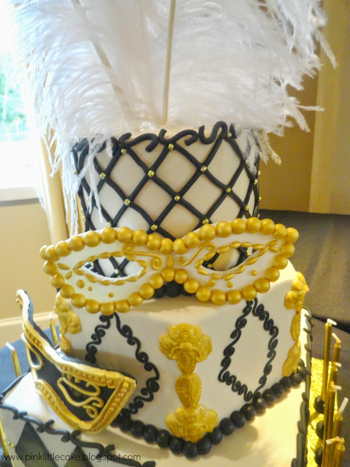 My Pink Little Cake: Masquerade theme Sweet 16 Cake