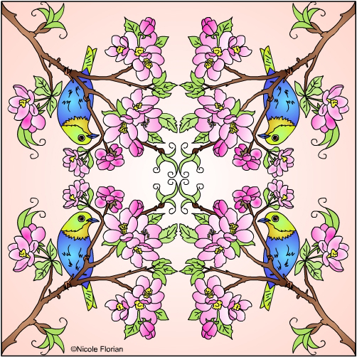 Apple Blossom Coloring Pages Free
