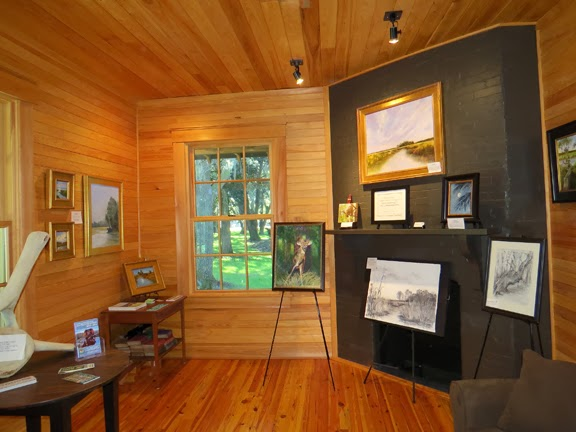 Paintings And Drawings Of The Santee Coastal Reserve By Katherine Schneider  On View At The Santee Gun Club