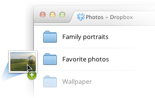 drag and drop in dropbox