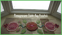 POMEGRANATE  WOOL TABLE RUG