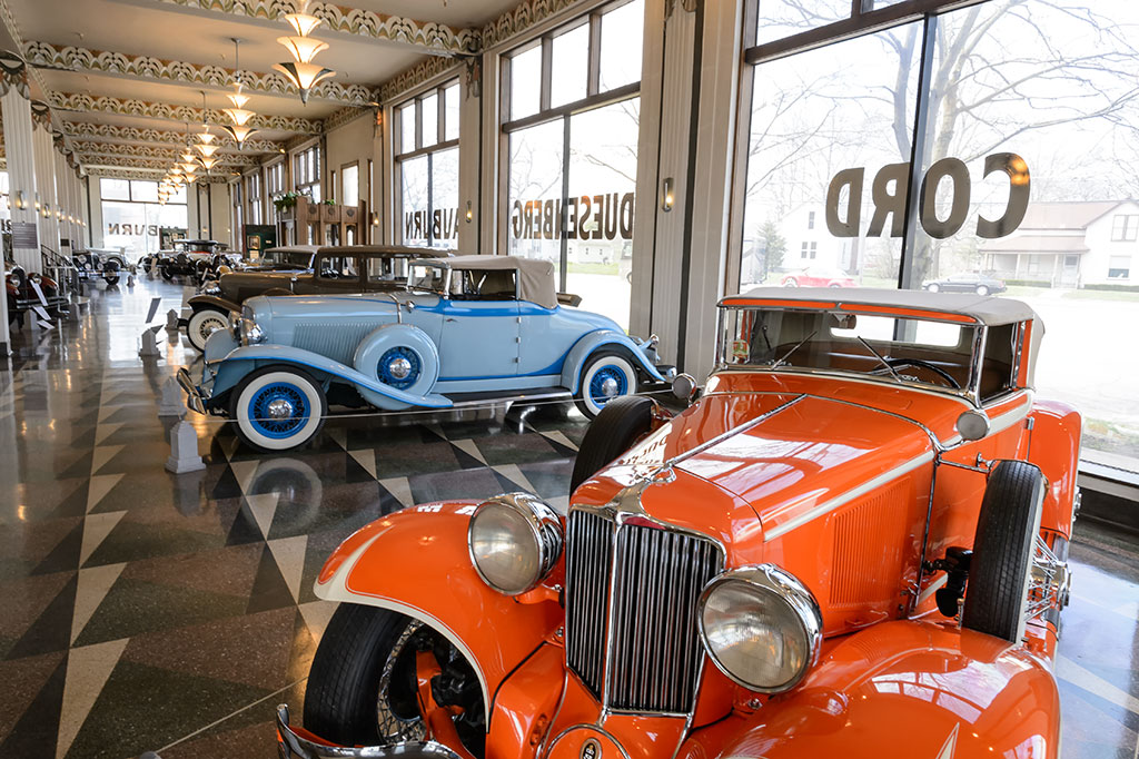 Auburn Cord Duesenberg Museum's Art Deco Showroom