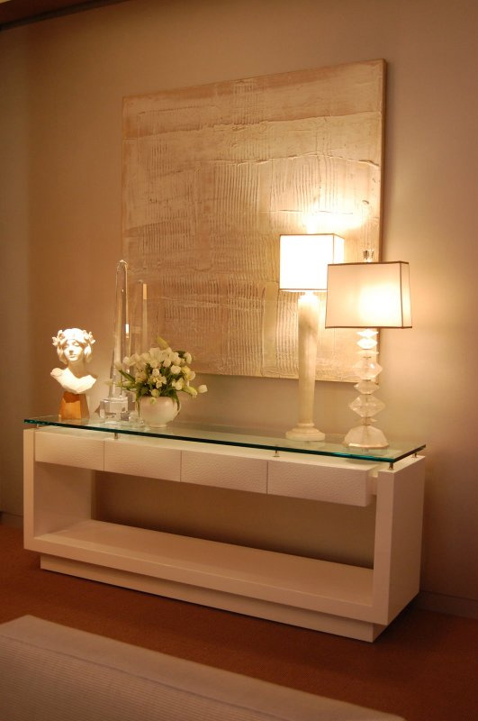 Construindo minha casa clean aparadores modernos e for Espejos hall entrada
