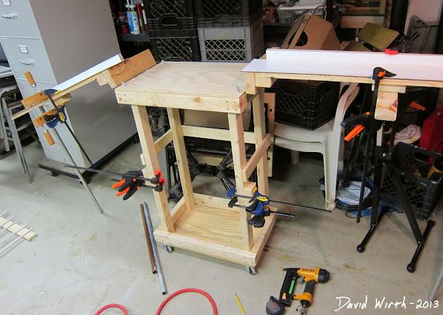 folding arm pipe brace, brackets, miter saw, homemade, build plans
