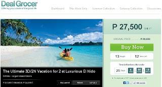 Deal Grocer El Nido Resort Promo