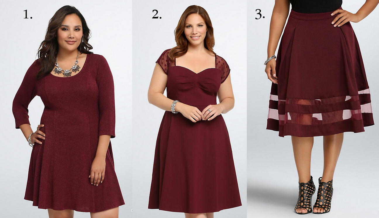 Wine colored dresses plus size