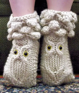 http://www.ravelry.com/patterns/library/owl-booties-3