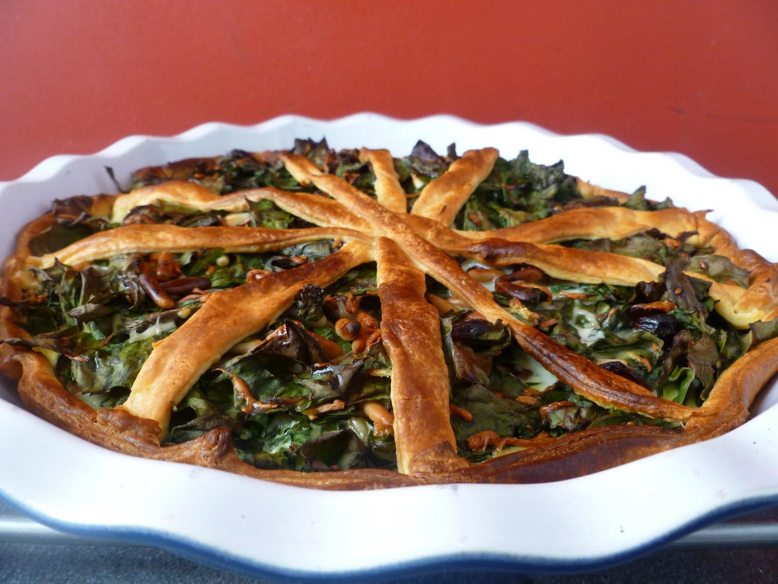 Tourte de feuilles de blettes blog de recettes bio le - Cuisiner blettes feuilles ...