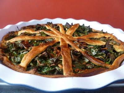 Tourte de feuilles de blettes blog de recettes bio le cri de la courgette - Cuisiner les feuilles de blettes ...
