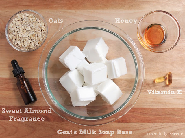 Making your own almond oatmeal goat's milk soap is easy with melt-and-pour soap base! Learn how to make your own soap bars with this quick tutorial | Soap Making | Melt-and-pour | How to make soap without lye | Mom Makes Joy