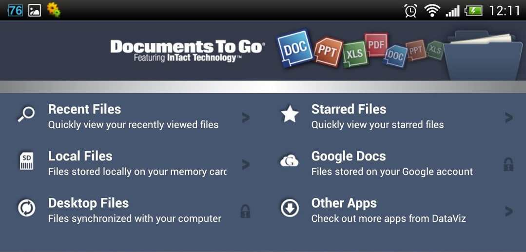 Aplikasi office Docs to go android