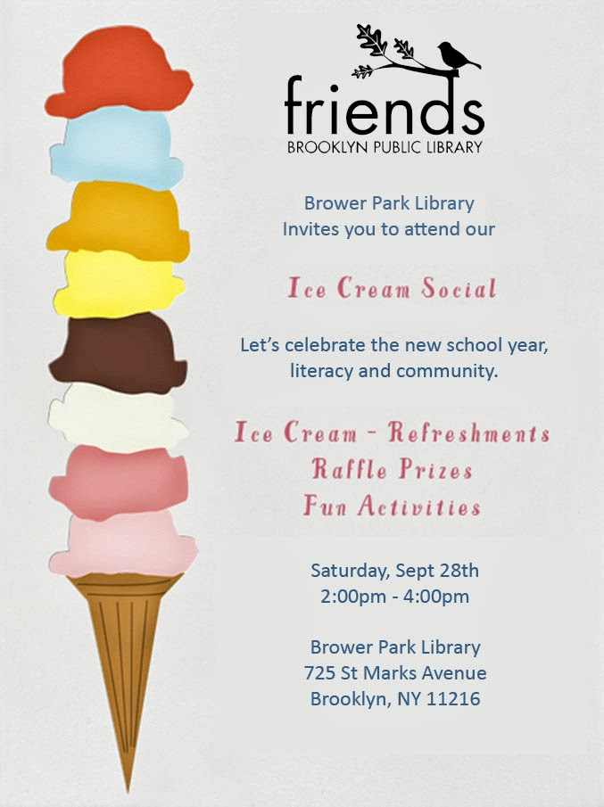 Ice Cream Social Template Brower park library ice cream