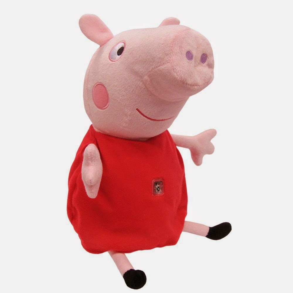JUGUETES - PEPPA PIG - Peluche interactivo con tablet   Producto Oficial | Bandai 84268 | A partir de 18 meses