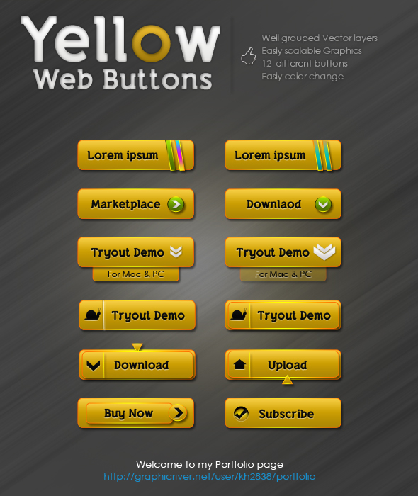 free web buttons download