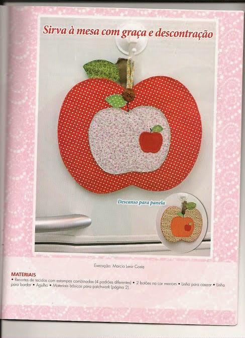 Jogo americano de maçã em patchwork