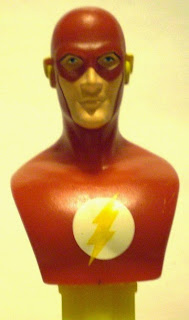 Close up of Flash bust PEZ