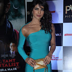Priyanka Chopra Showcasing Her Stunning Figure In Blue Dress At 'The Reluctant Fundamentalist' Premiere In PVR Cinema, Mumbai