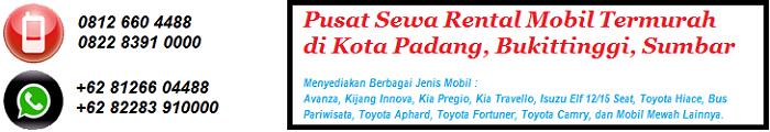 Rental Mobil Padang, Sewa Mobil di Padang, Bukittinggi, Indonesia