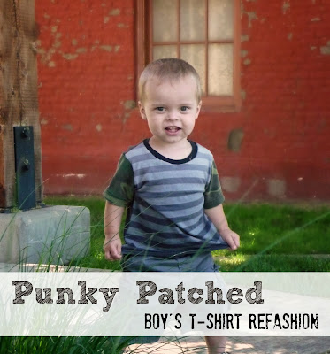 http://www.domesticblisssquared.com/2013/08/little-boys-punky-patchwork-t-shirt.html