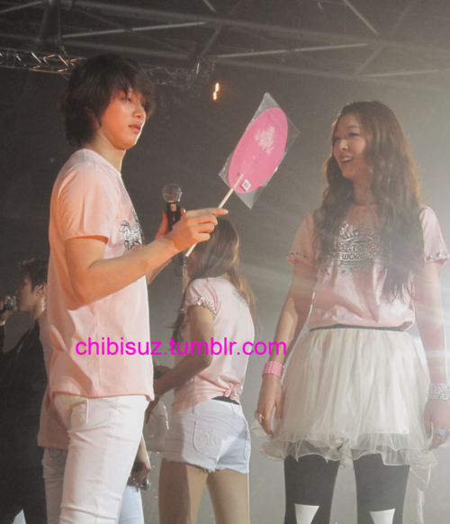 Sulli Dan Heechul Heechul Sulli Cute in Inkigayo