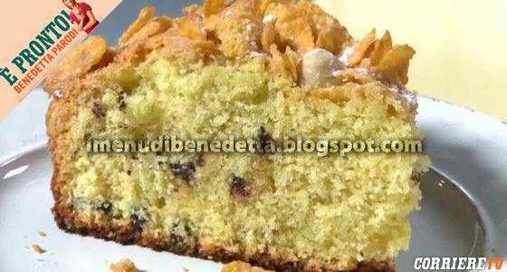 Torta Croccantina con Corn Flakes e Nocciole di Benedetta Parodi