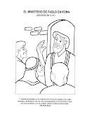 El Ministerio de Pablo en Roma para colorear - Dibujos Cristianos ministerio de pablo en roma para colorear