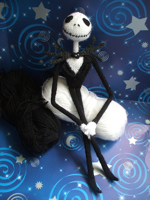 Jack Skellington Doll Knitting Pattern : The Speculative Salon: Christmas Dolls for the Fantasy Lover to Make