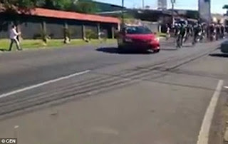 Costa Rica cycling Race Accident, cycling accident