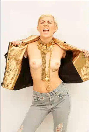Miley Cyrus – Maxim Magazine Topless Photoshoot Outtakes (NSFW)