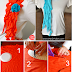Trendy Ruffled Scarves Out of Old T-shirts – DIY