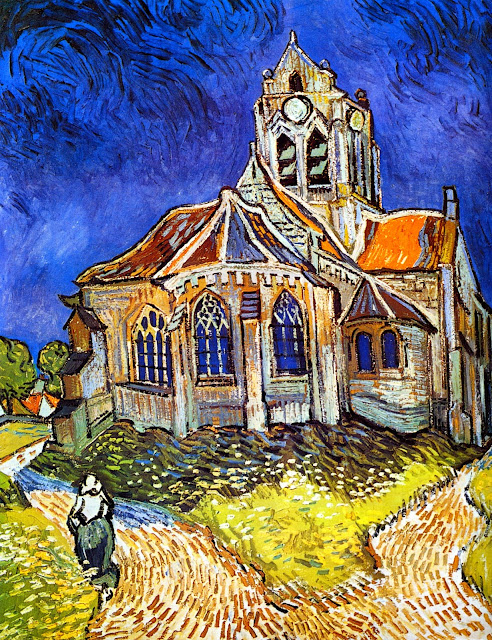 "Picture of ""The Church at Auvers"" by Vincent van Gogh, 1890"