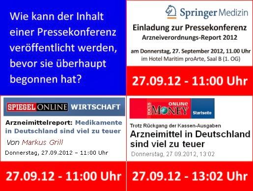 Pressekonferenz Arzneimittelreport 2012