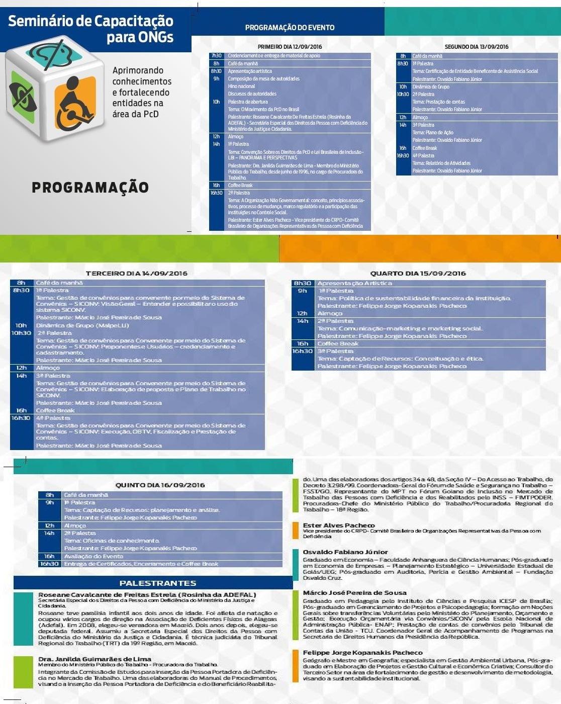 Seminário Capacitação ONG´s Goiânia 2016