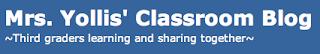 Mrs. Yollis' class blog logo